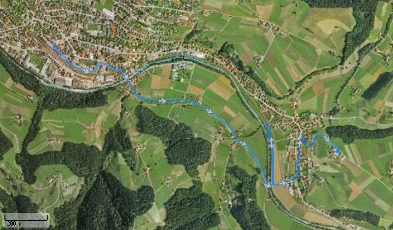 Strecke Langnau - Bärau...
