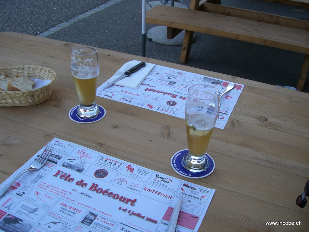 ...das Bierchen danach...