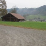 Die Blockhütte in Bowil